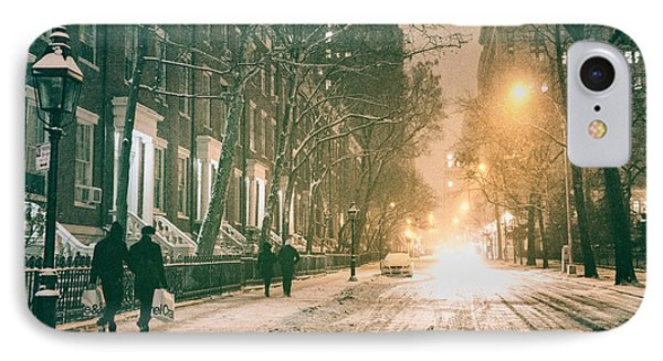 Winter - Snow - Washington Square - New York City IPhone Case by Vivienne Gucwa