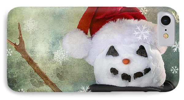 Winter Snowman Phone Case by Cindy Singleton