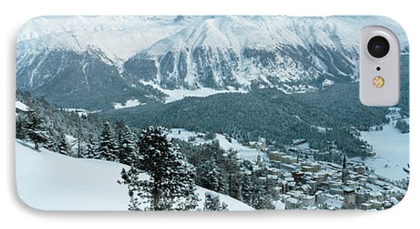 Winter, St Moritz, Switzerland IPhone Case by Panoramic Images