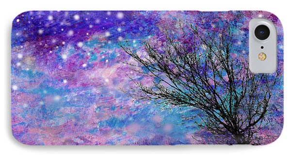 Winter Starry Night Phone Case by Ann Powell