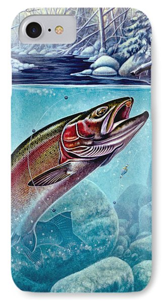 Winter Steelhead IPhone Case by Jon Q Wright