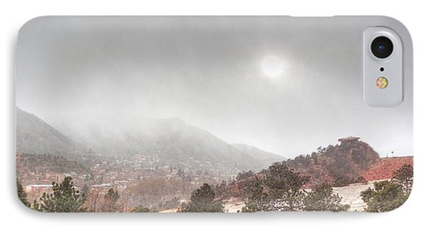 Winter Storm In Summer With Sun IPhone Case by Lanita Williams