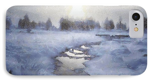 Winter Stream Phone Case by Gun Legler