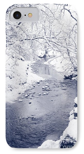 IPhone Case featuring the photograph Winter Stream by Liz Leyden