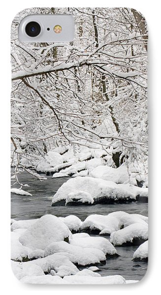 IPhone Case featuring the photograph Winter Stream by Timothy McIntyre