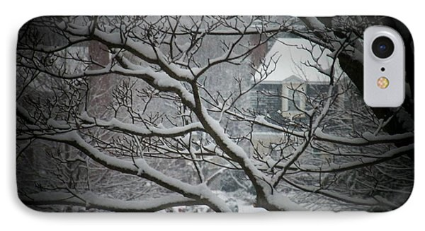 Winter Street IPhone Case by Joyce Kimble Smith