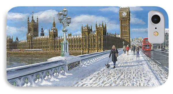 Winter Sun - Houses Of Parliament London IPhone Case by Richard Harpum