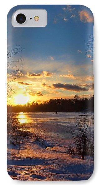 Winter Sundown Phone Case by Joann Vitali