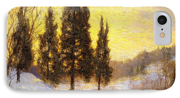 Winter Sundown Phone Case by Walter Launt Palmer
