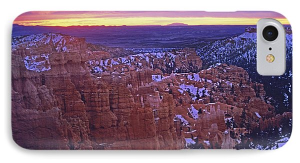 IPhone Case featuring the photograph Winter Sunrise At Bryce Canyon by Susan Rovira