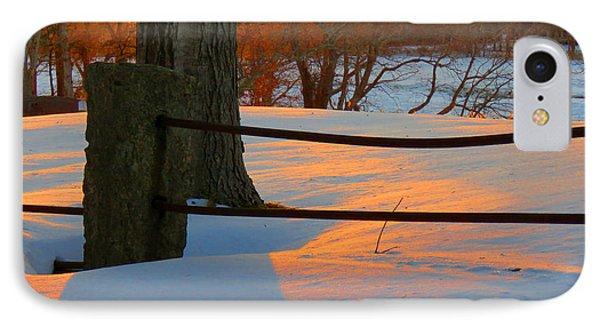 Winter Sunrise Glow IPhone Case by Dianne Cowen