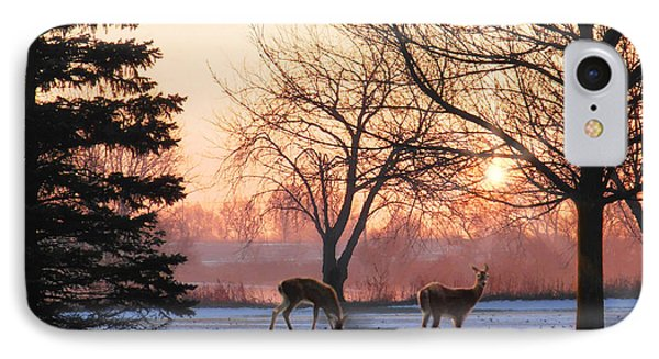 Winter Sunrise Greeting IPhone Case by Doug Kreuger