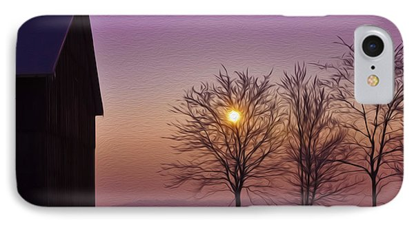 Winter Sunset Phone Case by Aged Pixel