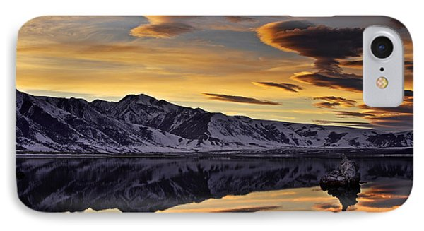 Winter Sunset At Mono Lake IPhone Case by David Orias