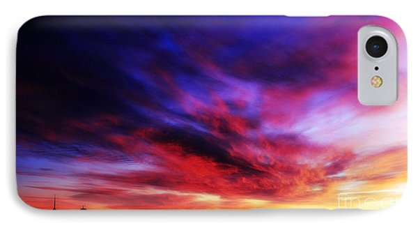 Winter Sunset IPhone Case by Charline Xia