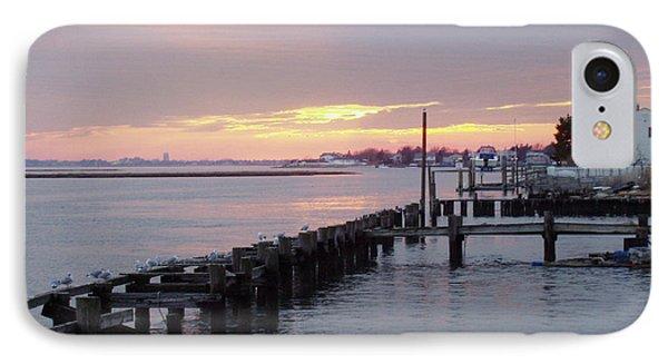 Winter Sunset Freeport Phone Case by John Telfer