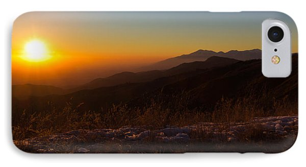 Winter Sunset Phone Case by Heidi Smith