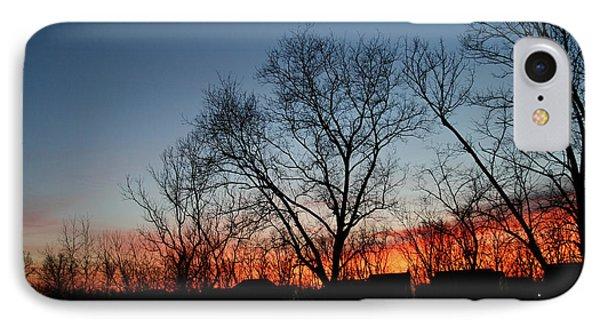 Winter Sunset Phone Case by Karen Adams