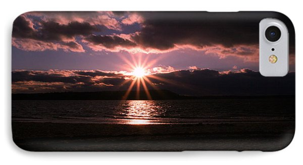 IPhone Case featuring the photograph Winter Sunset by Karen Silvestri