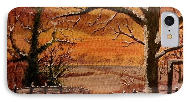 Winter Sunset  Lll IPhone Case by Elizabeth Coats
