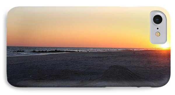 Winter Sunset On Long Beach IPhone Case by John Telfer
