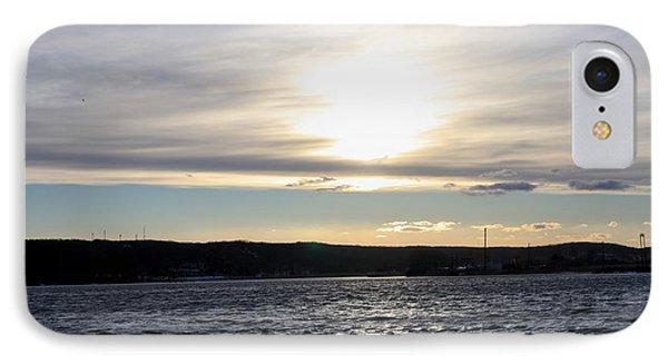 Winter Sunset Over Gardiner's Bay Phone Case by John Telfer