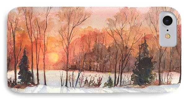 A Hedgerow Sunset IPhone Case by Carol Wisniewski