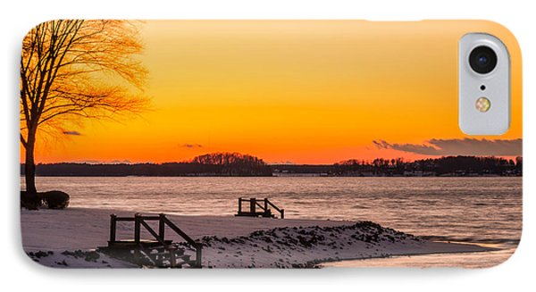 Winter Sunset IPhone Case by Serge Skiba