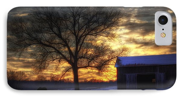 Winter Sunset Phone Case by Skip Tribby