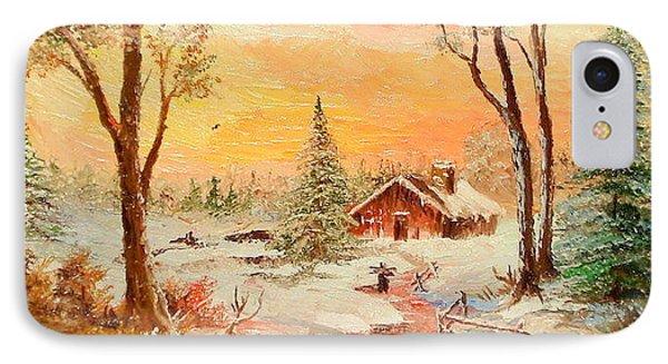 Winter Sunset Phone Case by Sorin Apostolescu