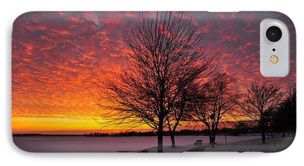 Winter Sunset Phone Case by Terri Gostola