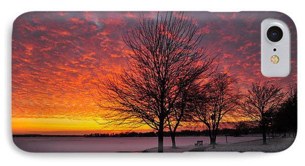IPhone Case featuring the photograph Winter Sunset by Terri Gostola