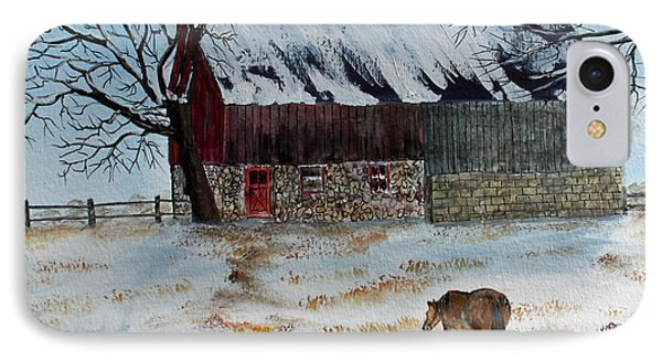 IPhone Case featuring the painting Winter Tidbits by Jack G  Brauer