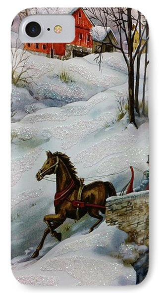 Winter Time With T And R IPhone Case by Rob Hans
