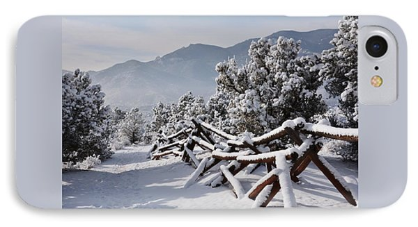 Winter Trail Beckons IPhone Case