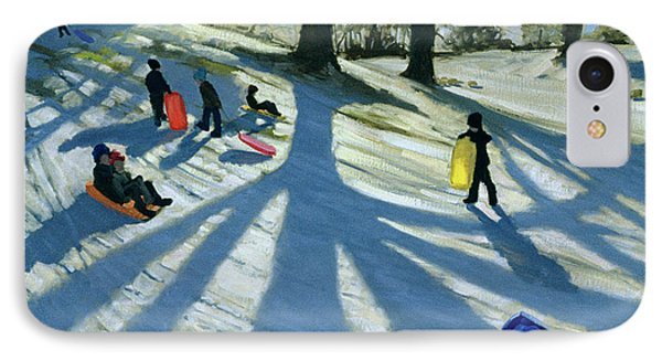 Winter Tree IPhone Case by Andrew Macara