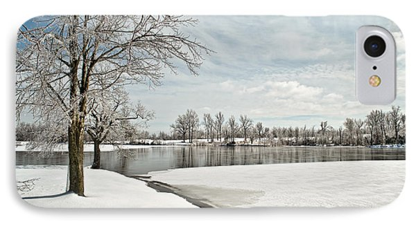 Winter Tree At The Park 2 IPhone Case by Greg Jackson