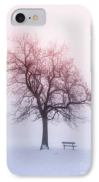 Winter Tree In Fog At Sunrise IPhone Case by Elena Elisseeva