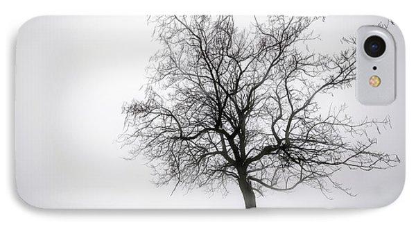 Winter Tree In Fog Phone Case by Elena Elisseeva