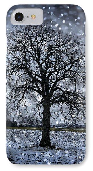 Winter Tree In Snowfall IPhone Case by Elena Elisseeva