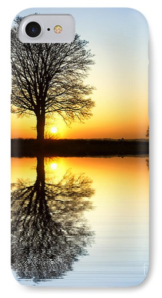 Winter Tree Reflections Phone Case by Tim Gainey