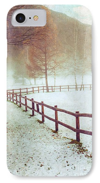 Winter Tree With Fence IPhone Case