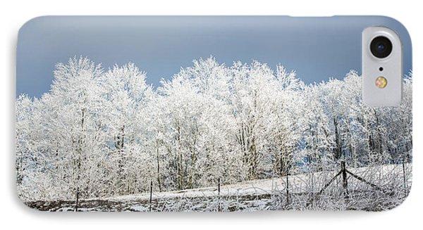Winter Treeline Panorama Phone Case by John Haldane