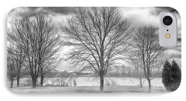 Winter Trees IPhone Case by Howard Salmon