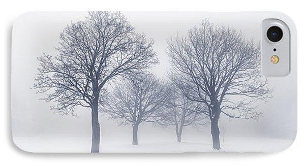 Winter Trees In Fog Phone Case by Elena Elisseeva