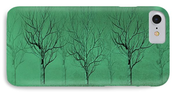 Winter Trees In The Mist Phone Case by David Dehner