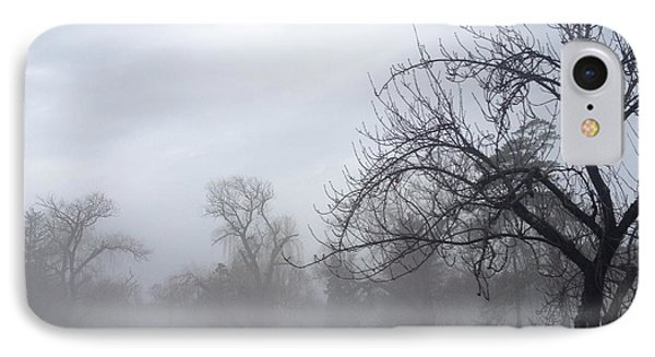 IPhone Case featuring the photograph Winter Trees With Mist by Jeannie Rhode