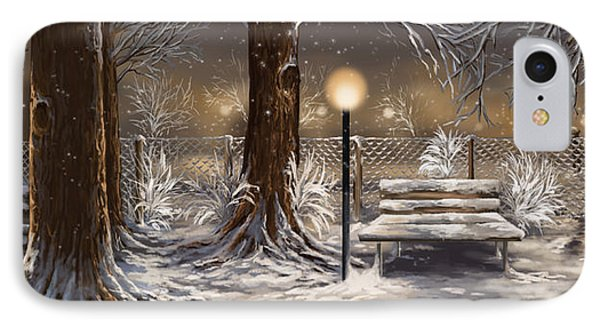 Winter Trilogy Collage IPhone Case by Veronica Minozzi