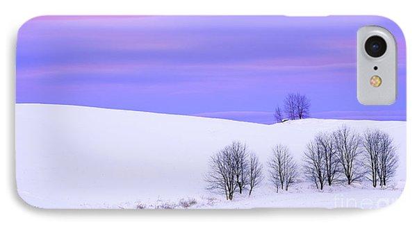 Winter Twilight Landscape IPhone Case