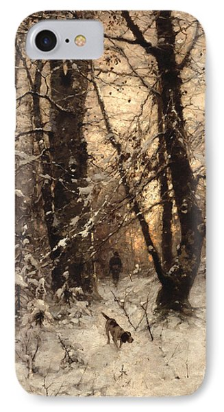 Winter Twilight IPhone Case by Ludwig Munthe